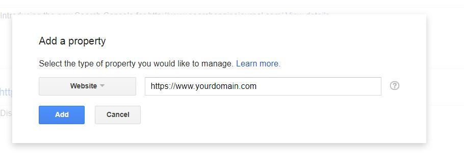 ثبت مجدد وب سایت HTTPS در سرچ کنسول گوگل