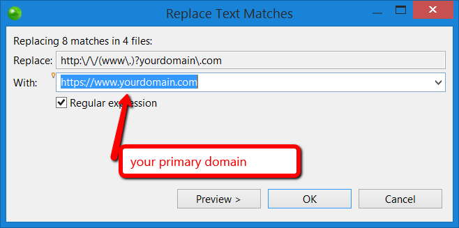 جایگزینی منابع HTTP با HTTPS
