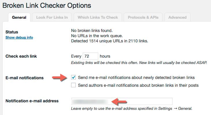 افزونه Broken Link Checker وردپرس
