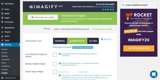 افزونه وردپرسی سئو تصاویر Imagify