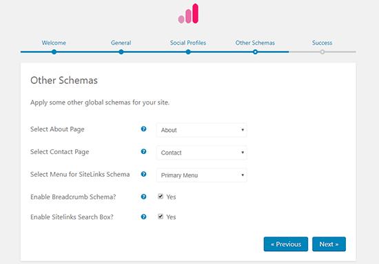 تنظیمات بخش other schema افزونه Schema pro
