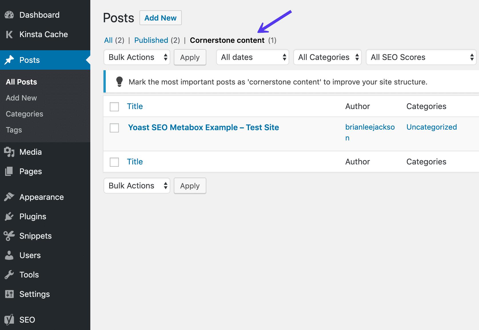 محتواهای بنیادی در لیست پست ها
