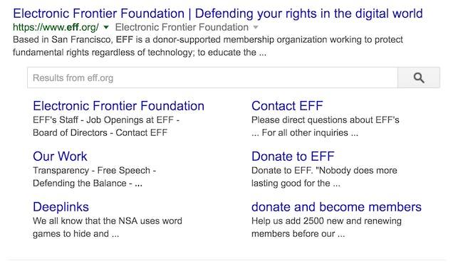 سایت لینک ها (Site Links)