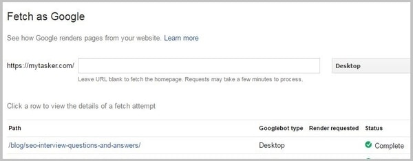 Google Fetch