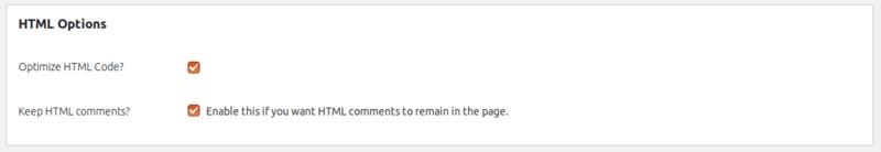 تنظیمات قسمت HTML افزونه autoptimize