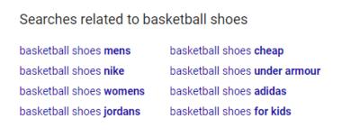 استفاده از عبارات پیشنهادی گوگل در فروشاه های اینترنتی