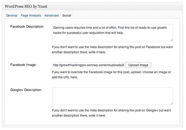 فزونه Yoast SEO برای پیاده سازی تگ های OG