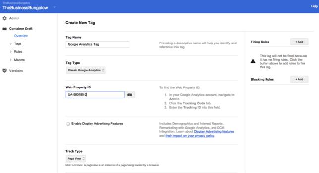 قرار دادن کد آنالیتیکس در Google Tag Manager