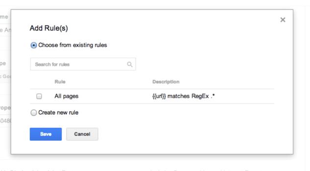 تعریف قانون در Google Tag Manager