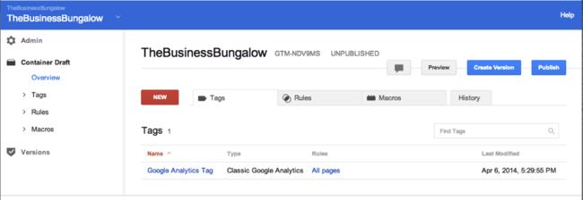 انتشار تگ در Google Tag Manager