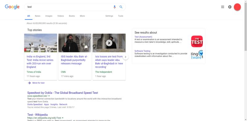 اسکرین شات کاربر Reddit از تغییرات ظاهری گوگل
