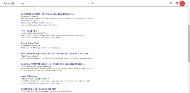 اسکرین شات کاربر Reddit از تغییرات ظاهری نتایج گوگل