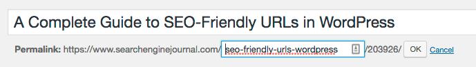تغییر URL در ویرایشگر وردپرس