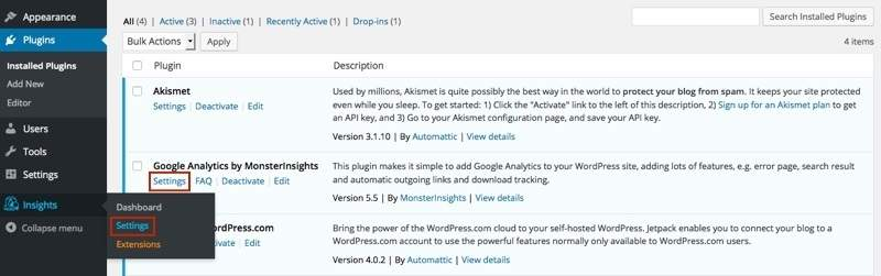 تنظیمات Google Analytics MonsterInsights