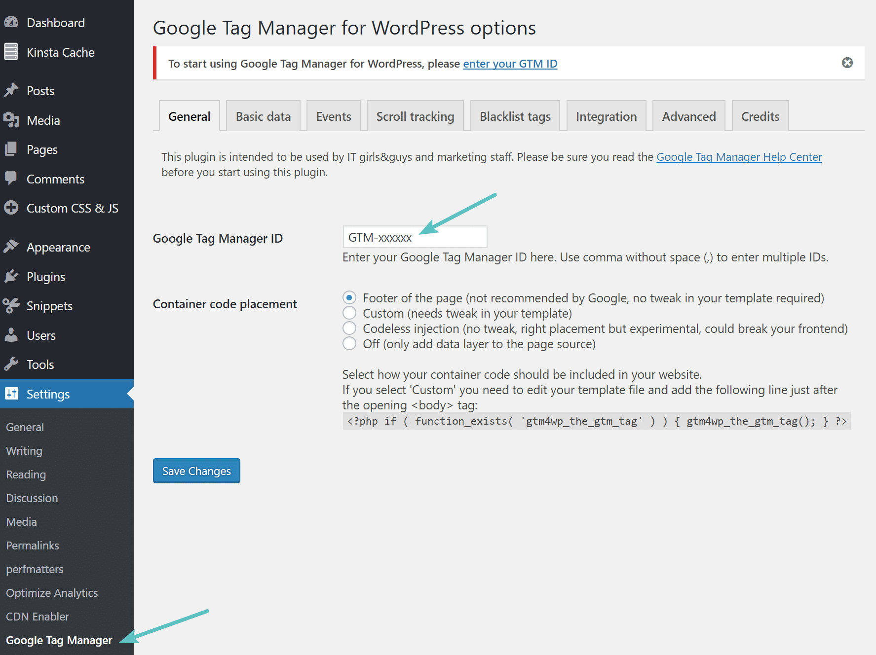 کپی کردن آی دی Google Tag Manager