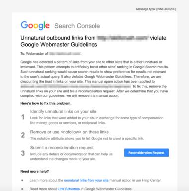 گزارش Manual Actions از Google Search Console