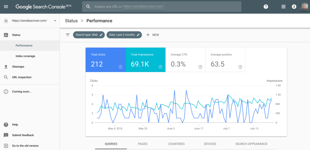 گزارش Performance در کنسول جدید جستجوی گوگل