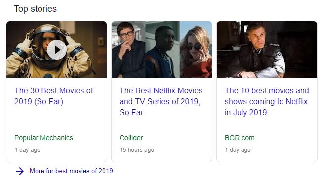 آخرین اخبار مرتبط با بهترین فیلم های 2019