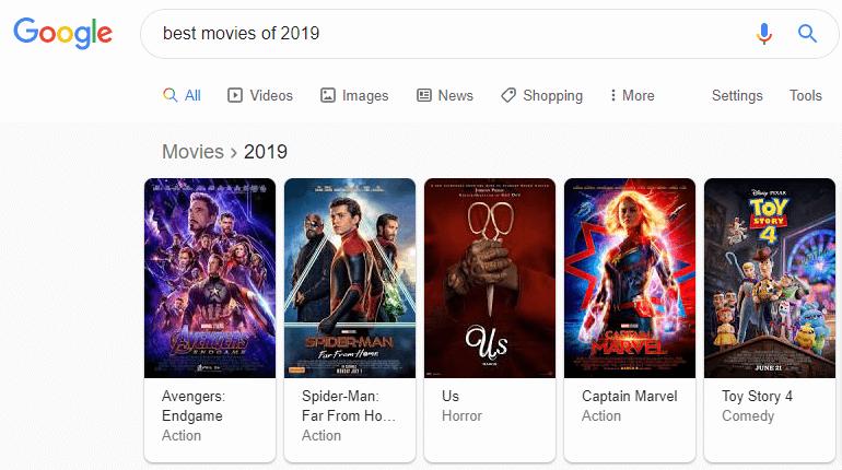جستجوی عبارت best movies of 2019