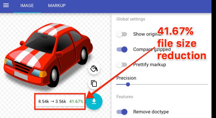 مینیفای کردن SVG