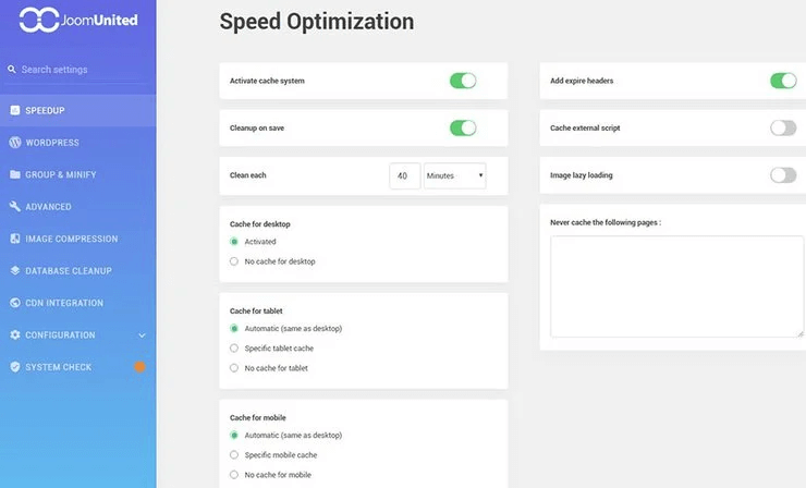 Optimize speed in WP Speed ​​of Light plugin