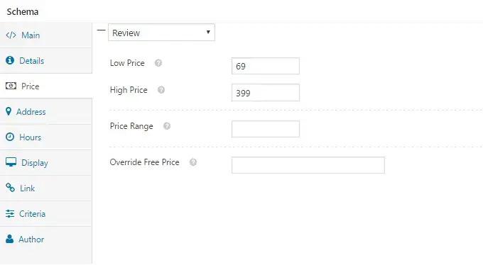 نمایش قیمت با افزونه WP Rich Snippets
